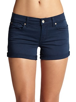7 For All Mankind - Roll-Cuff Colored Shorts