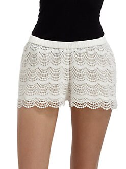 Candela - Zuri Cotton Lace Shorts