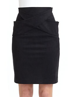 Black Halo - Justice Crossover Front Pencil Skirt