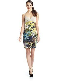 Black Halo - Magnus Floral Watercolor Dress