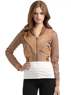 Gar-De - Kavir Suede-and-Leather Jacket