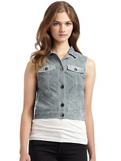 Gar-De - Frasier Perforated Suede Vest/Blue