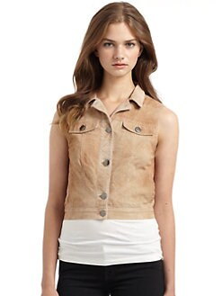 Gar-De - Frasier Perforated Suede Vest/Tan