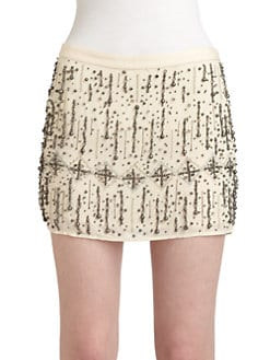 Gryphon - Glitz Embellished Mini Skirt