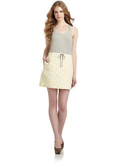 Gryphon - Marina Woven Skirt Combo Dress