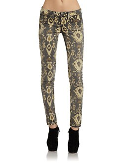 SOLD Design Lab - Soho Ikat Super Skinny Leg Denim Jeans