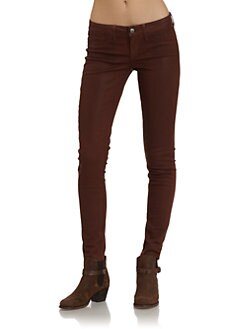 SOLD Design Lab - Soho Faux Leather Skinny Leg Jeans