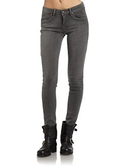 SOLD Design Lab - Soho Faded Super Skinny Jeans