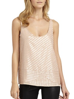 Chelsea Flower - Silk Beaded Sequin Tank Top