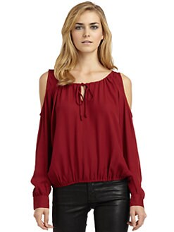 Chelsea Flower - Silk Cold Shoulder Blouse