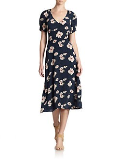 Candela - Minnie Floral-Print Silk Dress