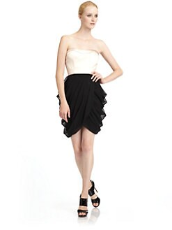 Alexia Admor - Two-Tone Draped Dress