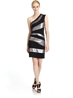 Alexia Admor - Sequined One-Shoulder Dress