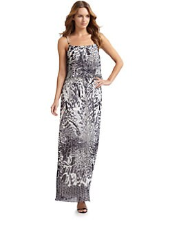Aidan Mattox - Printed Pleated Gown