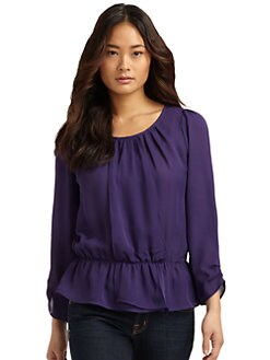 Joie - Tevy Pleated Silk Blouse