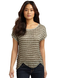 Joie - Savina Scalloped Beaded Top