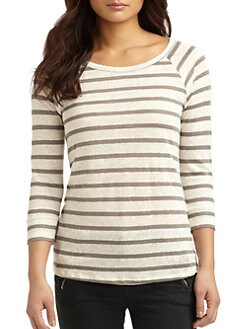 Joie - Alpine Striped Linen Tee