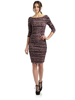 Catherine Malandrino - Glow Print Ruched Jersey Dress