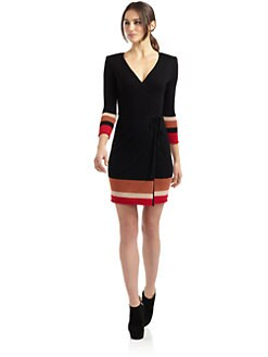 Catherine Malandrino - Wool Cashmere Wrap Dress