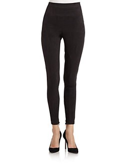 Robert Rodriguez - High-Waisted Faux-Suede Leggings