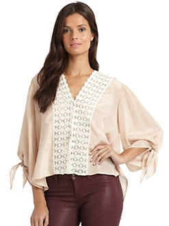 Love Sam - Silk Crochet Blouse