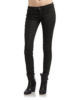 Rich and Skinny - Croc Marsh Skinny Jeans/Dark Green