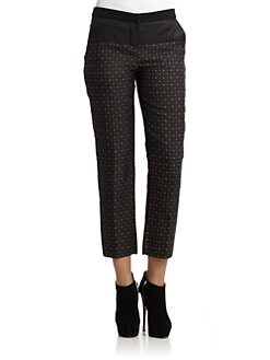 D&G - Mixed-Media Jacquard Trousers