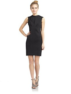 Z Spoke by Zac Posen - Geometric Seam Sheath Dress