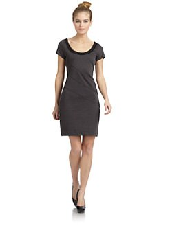 Z Spoke by Zac Posen - Bondage Frayed Neck Seamed Dress
