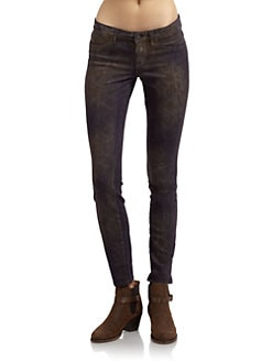 Rich and Skinny - Legacy Reptile Print Skinny Jeans/Purple
