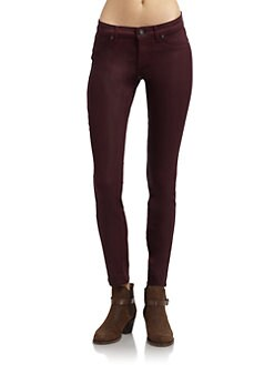 Rich and Skinny - Legacy Coated Skinny Jeans/Red