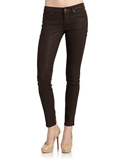 Rich and Skinny - Legacy Coated Skinny Jeans/Brown