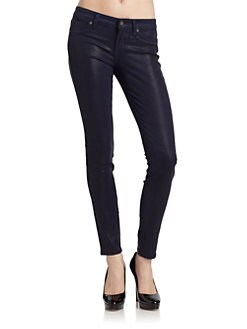 Rich and Skinny - Legacy Coated Skinny Jeans/Eggplant