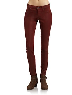 Rich and Skinny - Legacy Coated Skinny Jeans/Orange