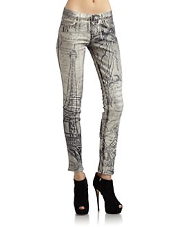 Rich and Skinny - Printed Skinny Jeans