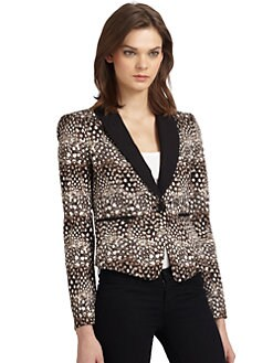 BCBGMAXAZRIA - Bowie Printed Tuxedo Jacket