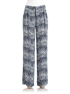 BCBGMAXAZRIA - Landon Abstract High-Waisted Trousers
