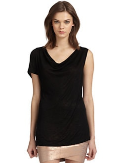 BCBGMAXAZRIA - Kalina Draped One Sleeve Top