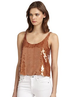 BCBGMAXAZRIA - Reese Sequined Tank Top