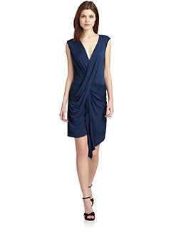 Akiko - Twisted-Front Jersey Dress