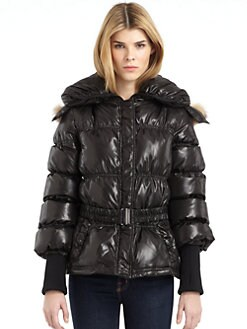 RUDSAK - Dee Shawl Collar Puffer Coat/Black