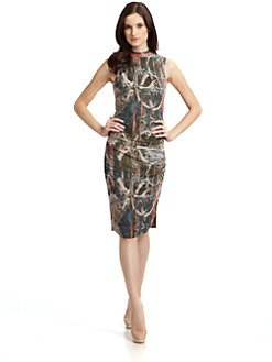 Andrew Marc - Cutout Silk Dress