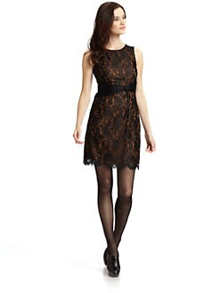 Andrew Marc - Knotted Lace Dress