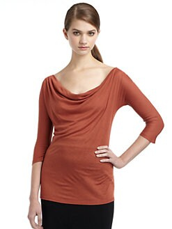 MaxMara - Sasia Cowlneck Jersey Blouse