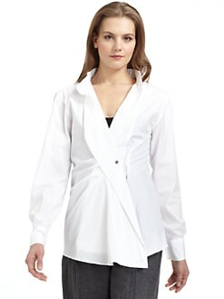 MaxMara - Crossover Cotton Shirt