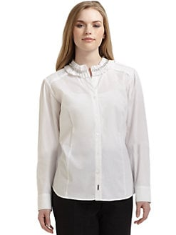 Marina Rinaldi, Salon Z - Chained Collar Shirt