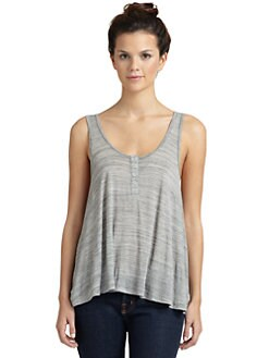 LNA - Heathered Henley Tank Top