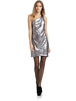 Alexia Admor - One-Shoulder Sequin Dress