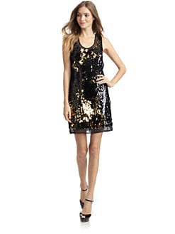 Alexia Admor - Sleeveless Sequin Tank Dress