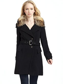 Andrew Marc - Cameron Fur-Trimmed Coat